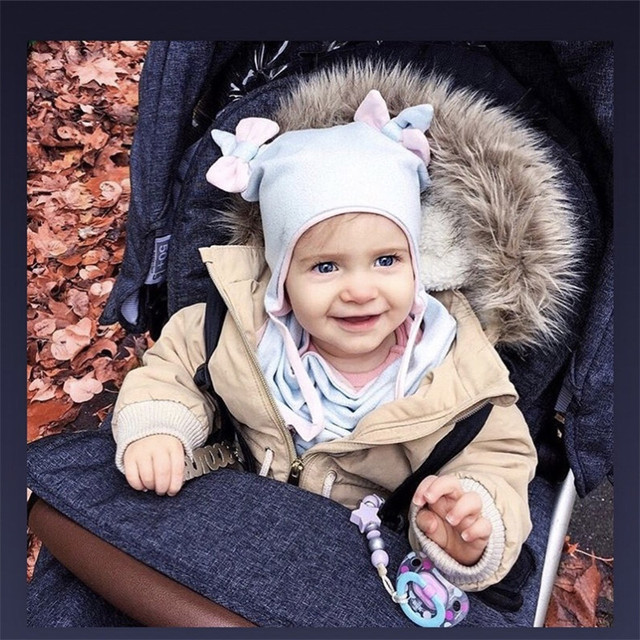 Детская хлопковая шапка и шарф, шапка с ушками и бантом, теплая шапка для мальчиков и девочек 2