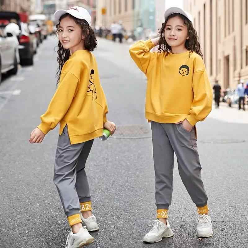 Spring Baby Girls Clothing  6 8 10 12 years olds Casual Sport T Shirt Pants 2Pcs/Sets Kids Child Clothes Suits Cotton Tracksuits