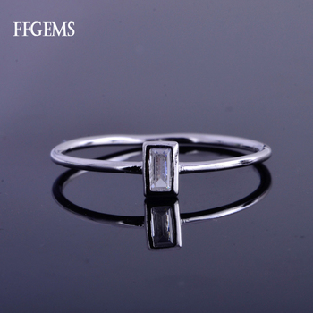 FFGems Elegant Real 10K Gold Ring Sterling Moissanite EF Color Fine Jewelry For Women Lady Engagement Wedding Party Gift image