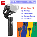 Zhiyun Crane M2 3-осевой Карманный Стабилизатор Для беззеркальных камер/смартфон/экшн-камеры/для компактных камер