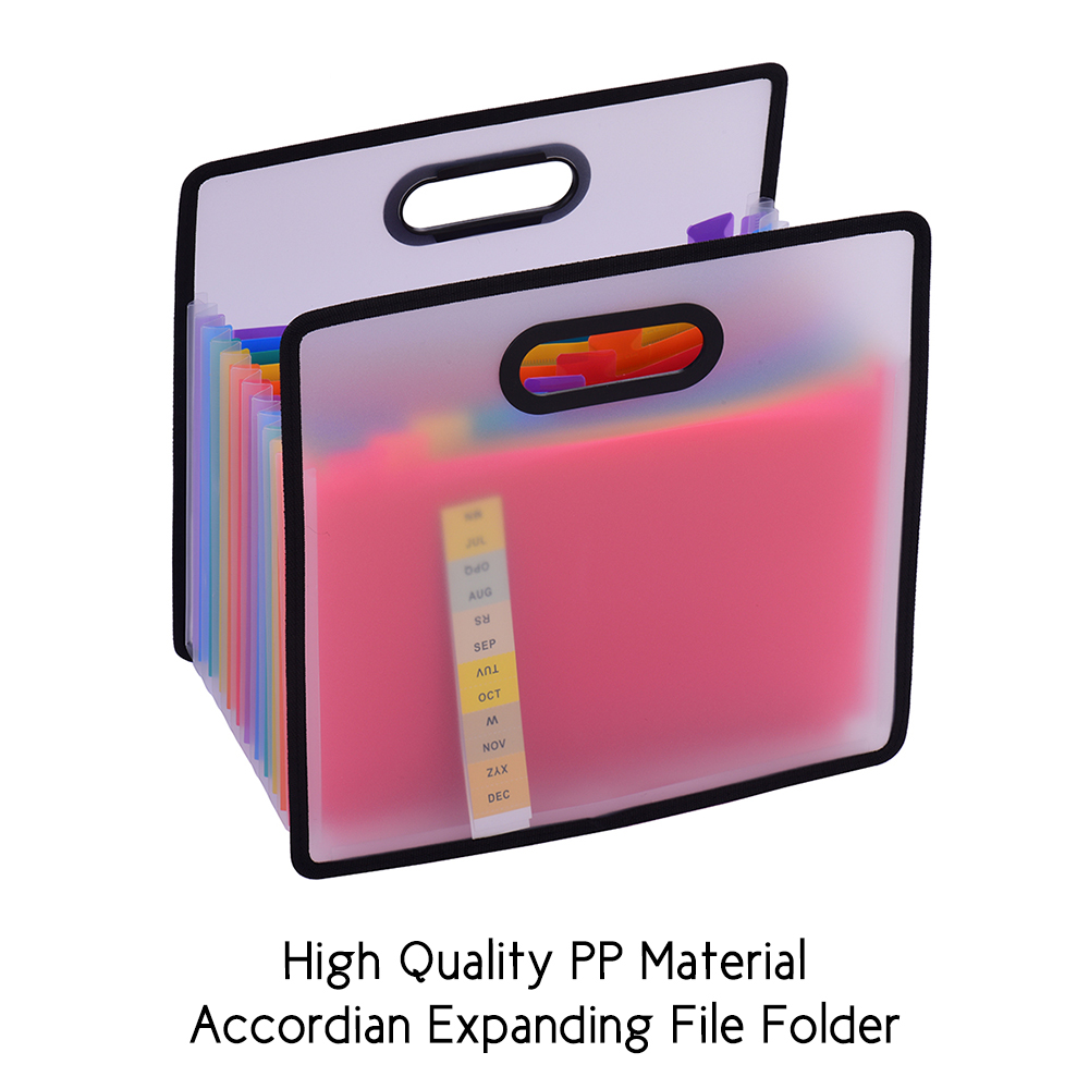 Rainbow File Folder A4 Paper  Portable Accordian With File Guide  Expanding  And Label Cards For Office School Filing Cabinet
