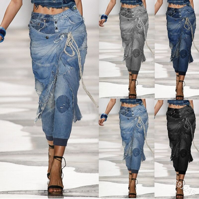 Lugentolo Jeans Woman 2020 New Fashion Personality Broken Hole Washed Bleached Vintage Low Waist Plus Size Pencil Pants