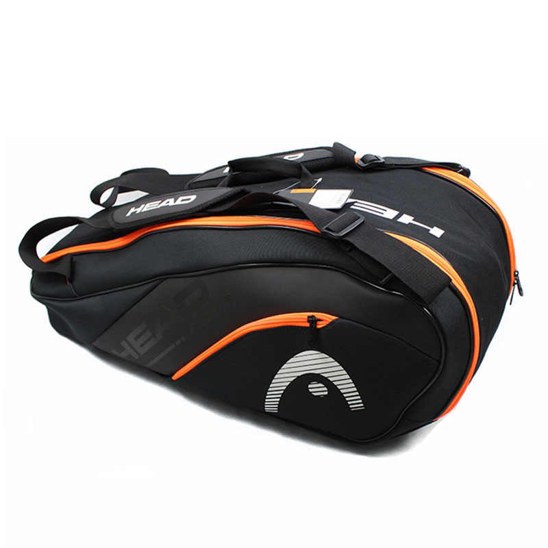 Original HEAD Tennis Bag Hard Shell Design Max 9 Rackets With Shoes Compartments Large Capacity All Sport Accessories In