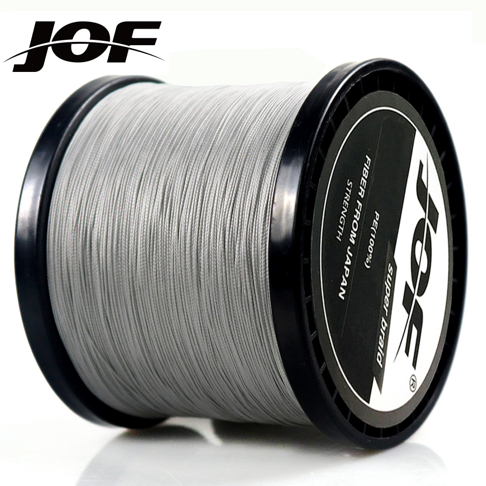 JOF 300M 500M 1000M 4 Strands 8 Strands PE Braided Fishing Line Multifilament Fishing Line 4 Colors