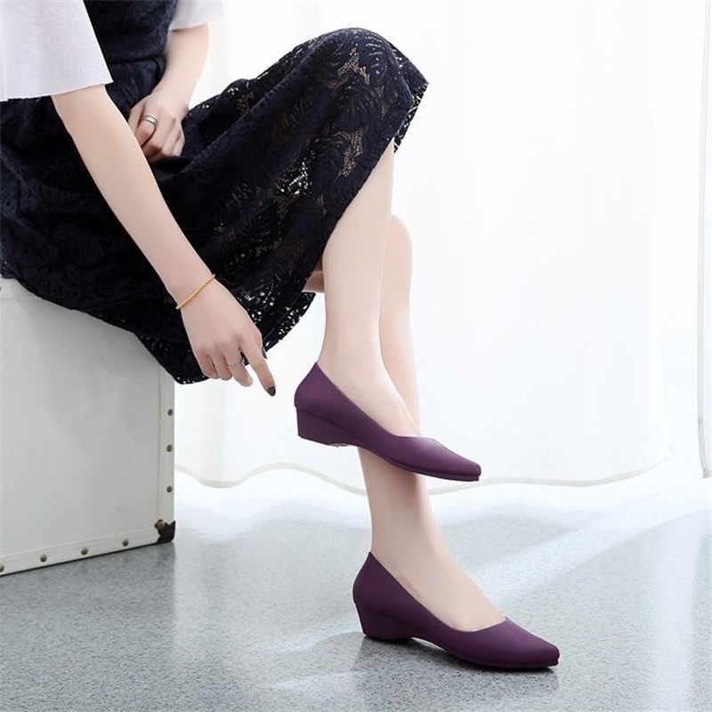 Casual Arbeit Frauen Grundlegende Candy Farbe Nude Heels Dame Büro Pumpen Schwarz Komfortable Neue Breite Heels Low-Block Schuhe Blau zapatos