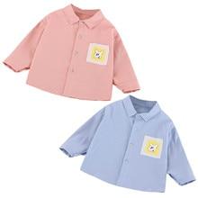 Blouse Tops Tee-Shirt Long-Sleeve Toddler Baby-Boys New Cartoon Animal Print Striped