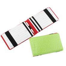 Solid Scorecard With Pencil Fashion Snakeskin Embossed Statistics Professional PU Leather Durable Golf Portable Training