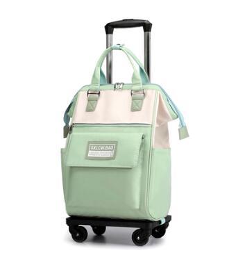 Woman carry on hand luggage bag Women Trolley backpack with Wheels Travel trolley bag luggage girl school Wheeled bakcpack Bag