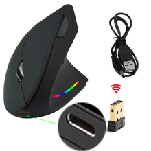 Wireless Mouse Vertical Mouse Ergonomic Optical 800/1200/1600/2400 DPI 6 Buttons Mause for Windows MAC OS стоимость