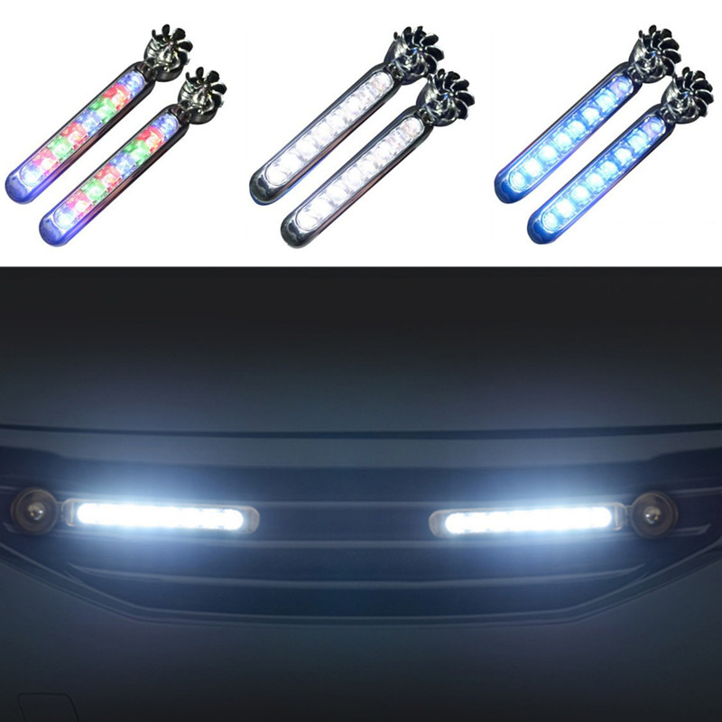 2pc LED Wind Powered Car Daytime Running Auto Decorative Lamp for Buick LaCrosse verano GS Regal Excelle for <font><b>Acura</b></font> MDX RDX <font><b>TSX</b></font> image