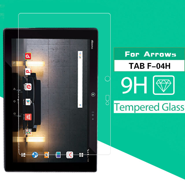 Explosion Proof Tempered Glass Film For FUJITSU Arrows Tab F-04h 10.5 In Tablet Glass Front Screen Protector + Cleaning Tools