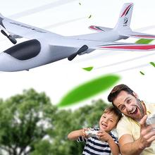 RC Plane Toy FX-818 2.4G EPP Remote Control RC Airplane Glider Toy with LED Light Kids Gift Outdoor Fixed Wing Aircraft