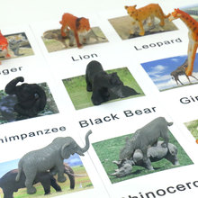 Montessori Animal Match Card Cognition Puzzles Baby Educational Toys Preschool Toddler Languag Learning Cards Matching Game Gift