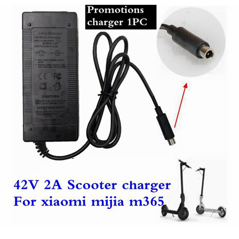 1PC lowest price 42V 2A electric skateboard adapter scooter charger for millet Mijia M365 electric scooter bicycle accessories Chargers     - title=