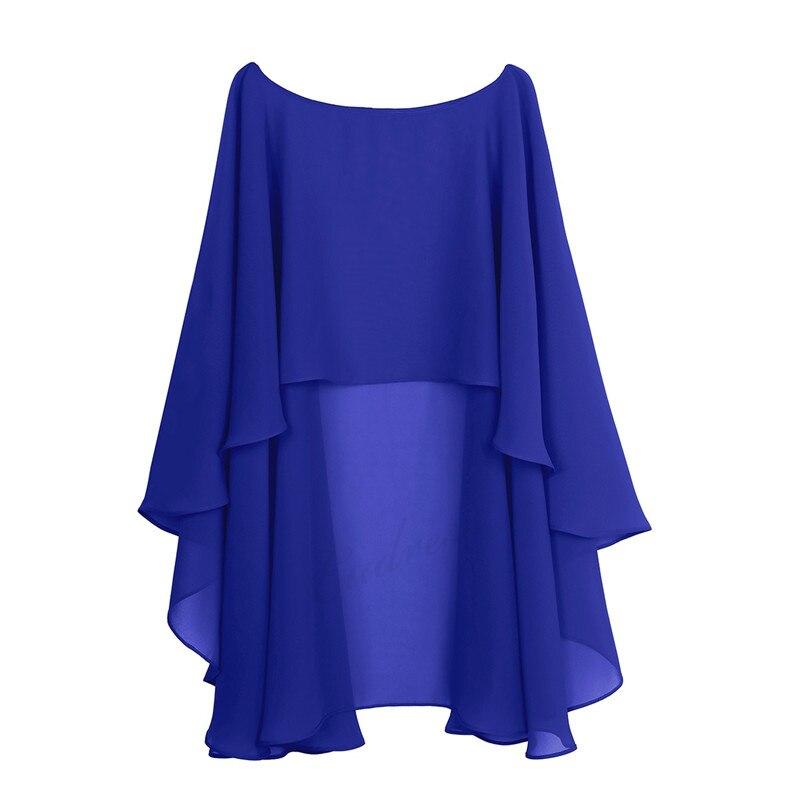 Womens Ladies Soft Wedding Capes Wedding Jacket Wraps Chiffon Shrug Bridal Bolero Long Shawl And Wraps Evening Wedding Cover Up