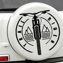 Красочная углеродная наклейка Take a Bike, креативная виниловая наклейка на автомобиль, наклейки s и наклейки на окно, наклейка для стайлинга авт...