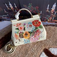 2019 D Women's bag luxury high quality classic pattern handbag brand designer large capacity OL shoulder Messenger bag G