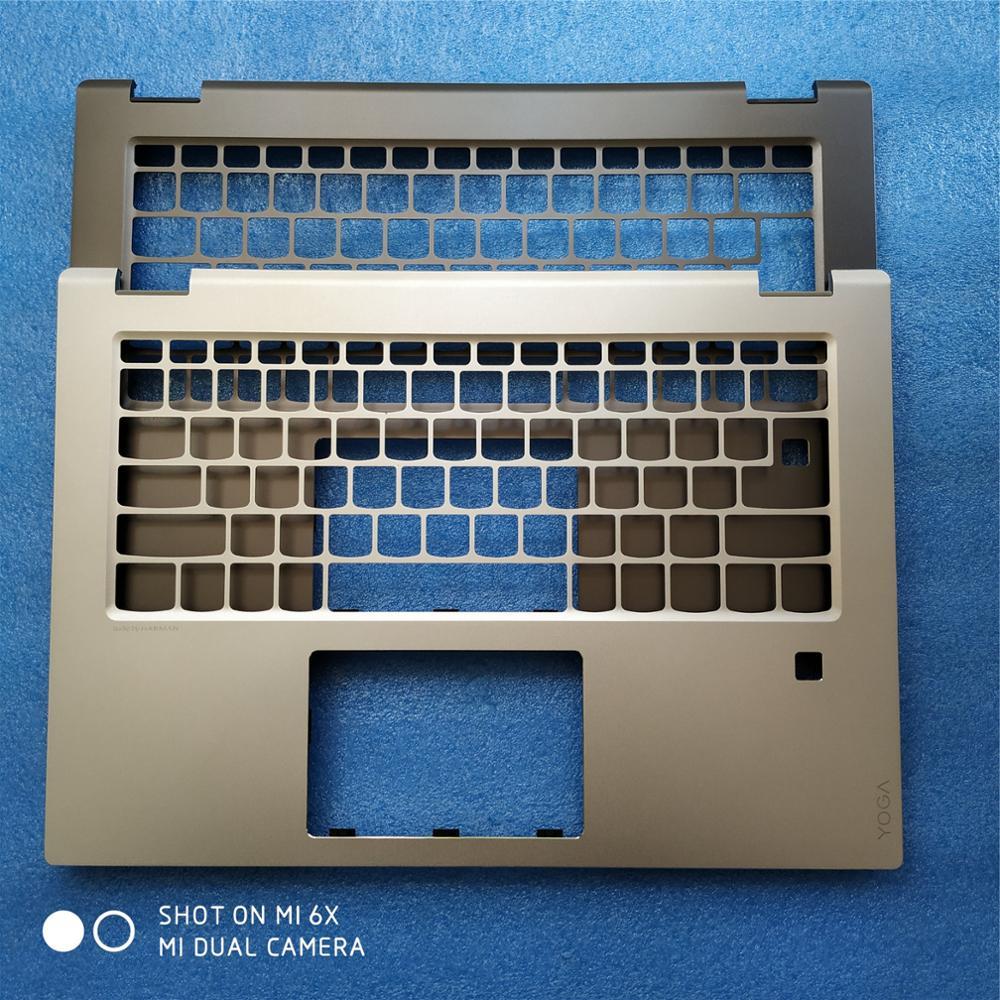 Nouveau repose-pied Original de coque supérieure d'ordinateur portable pour Lenovo Flex 5 Flex 5-14 Yoga 520-14 520-14IKB avec trou d'empreinte digitale