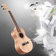 26 Inch Portable Okoume Wood Ukulele 18 Fret Tenor Ukulele Acoustic Cutaway Wood Color Guitar Mahogany Fit for Beginner Ukulele ukulele