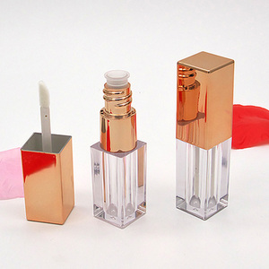 3ml Rose Gold Empty Lip Rouge Gloss Tubes Glossier Liquid Lipstick Cosmetic Containers Refillable Travel Bottle 20pcs/lot(China)