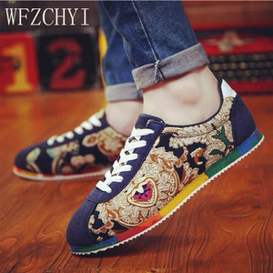 Image 5 - קיץ סיני סגנון גברים בד נעלי אופנה לנשימה נעליים שטוחות נעלי להחליק אופנה גברים נהיגה נעליים יומיומיות סניקרס