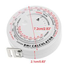 BMI ciało indeks masy chowana taśma 150cm miarka kalkulator dieta utrata masy ciała tanie tanio OOTDTY Maszyny do obróbki drewna 1 5 M Z tworzywa sztucznego C63E1A60052