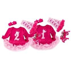 Vestido para meninas, roupas para crianças de 1 ano; vestidos de aniversário para meninas; roupas para bebês; vestidos de manga longa para meninas; vestido tutu para crianças; roupas de outono