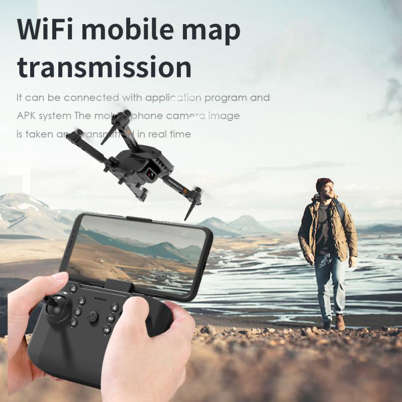 Ha335d6e77b6e40f6ad6a7c69b7e6b4bdB - L703 Folding Drone 4K HD Aerial Photography Cameras WIFI FPV Aerial Photography Helicopter Foldable Quadcopter Drone Toys