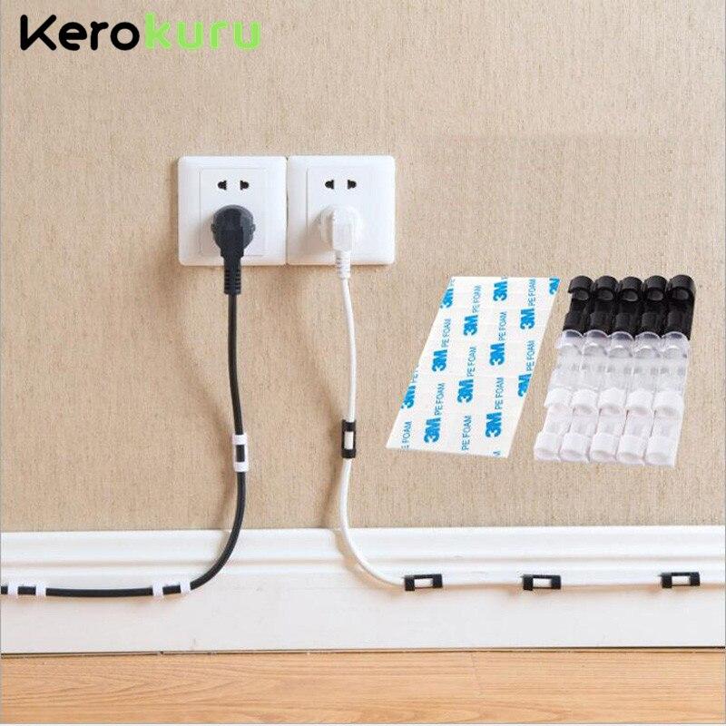Кабельные Зажимы органайзера для управления кабелем для рабочего стола и рабочей станции ABS провод управляющий шнур держатель USB зарядка линия передачи данных намотка|Кабелеукладчик|   | АлиЭкспресс - Топ товаров на Али в мае