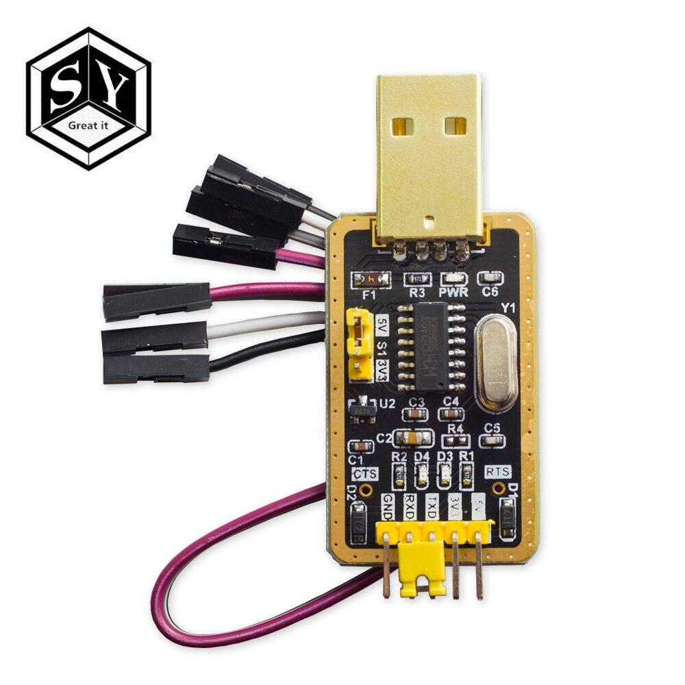 1 шт., модуль Great IT CH340 вместо PL2303, модуль CH340G RS232 в TTL, обновление USB до последовательного порта, в девяти небольших пластинах