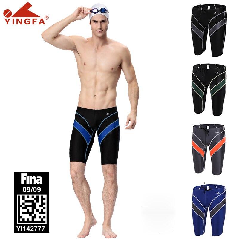 Yingfa 9402 competição jammer roupa de banho masculina fina aprovado homem treino maiôs de secagem rápida anti-cloro troncos de natação