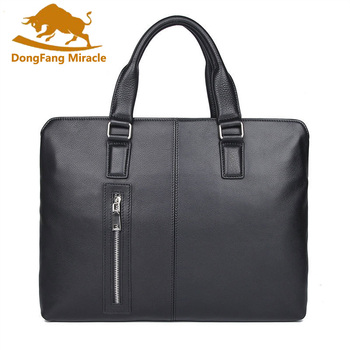 """Genuine Leather Men Briefcases Brand Business Men's Crossbody Bags High Quality Male Messenger Bags 15 """"Laptop Bag"""