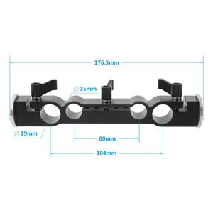Image 4 - Kayulin 15mm & 19mm Dual port Rod Clamp With Double Ended M6 ARRI Style Rosette Mount for camera support rig kit
