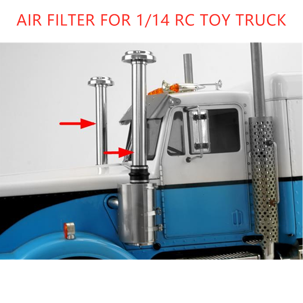 Tamiya Truck King Hauler Metal Air Filter For 1/14 Rc Truck 6X4 American Tractor 56301 56344 Remote Control Car Upgrade Part