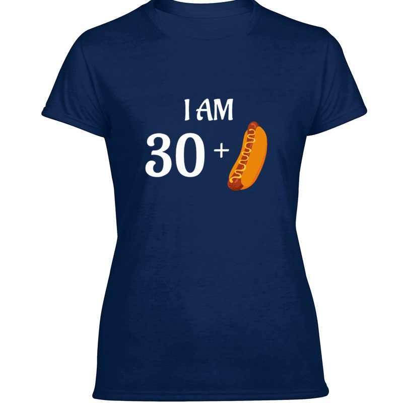 Abbigliamento I Am 30 Plus Hot Dog T Shirt Divertente Grigio Dell'annata Della Ragazza del Ragazzo T-Shirt 2020 di Grande Formato 3xl 4xl 5xl Harajuku