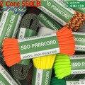 Paracord 50ft 550lb шнур парашютный шнур w/7 Core Strand Rope 4 мм Dia для кемпинга, пешего туризма, уличного дома, вязаный сплошной цвет