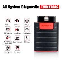 Thinkdiag yeni Mini OBD2 tarayıcı Bluetooth profesyonel OBD 2 otomotiv tarayıcı 15 sıfırlama servis kolay diag teşhis tarayıcı