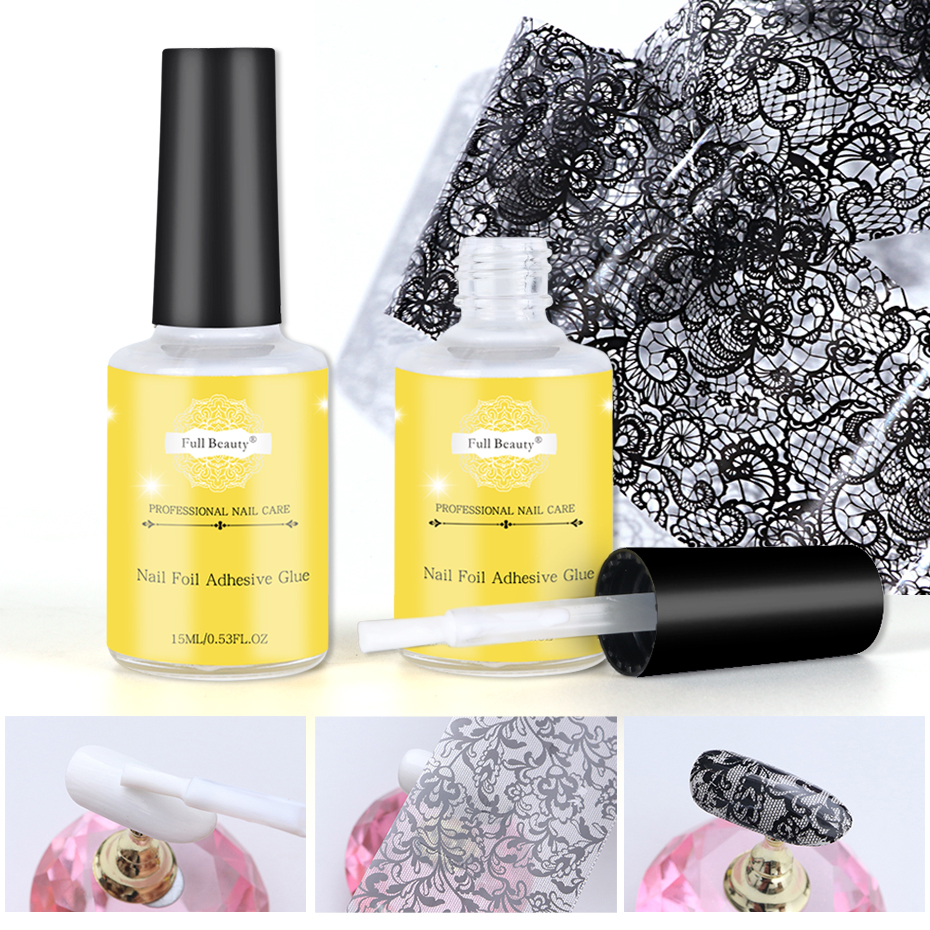 1 Bottle Glue For Nail Art Transfer Foil Sticky Nail Foil Glue Starry Sky Paper Adhesive Gel Lacquer Tools For Manicure BE1008
