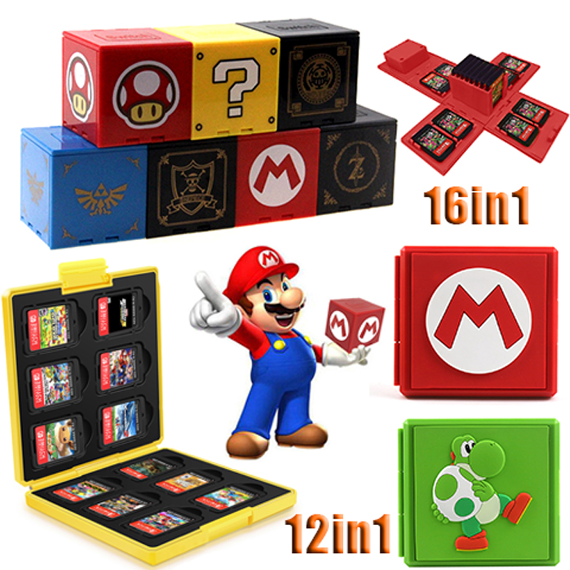 2019 Newest For Nintend Switch Shockproof Game Cards Case NS Hard Shell Box for Nitend Switch Games Storage Accessories 16 in 1