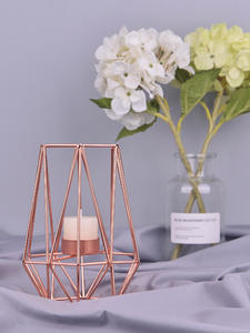 Candle-Holders Mesa Geometric Wrought-Iron Home-Decorate Metal Nordic-Style Crafts