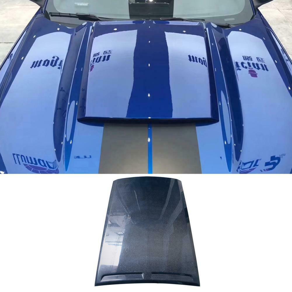 Carbon Fiber Front Hood Bonnet Scoop Fit Für 2014-2016 Mustang Roush Hood Scoop