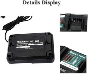 Image 2 - แบตเตอรี่ลิเธียมไอออนแบบชาร์จไฟได้สำหรับMakita DC10W 10.8V 12V DC10WD BL1015 BL1016 BL1021B BL1041B FD05 DT03 RJ03Z SH02Z PH04Z