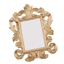 Mini Gold Baroque Picture Photo Holder Retro Style Resin Stand Photo Picture Frame Wedding Home Decor Friend Gift Prop