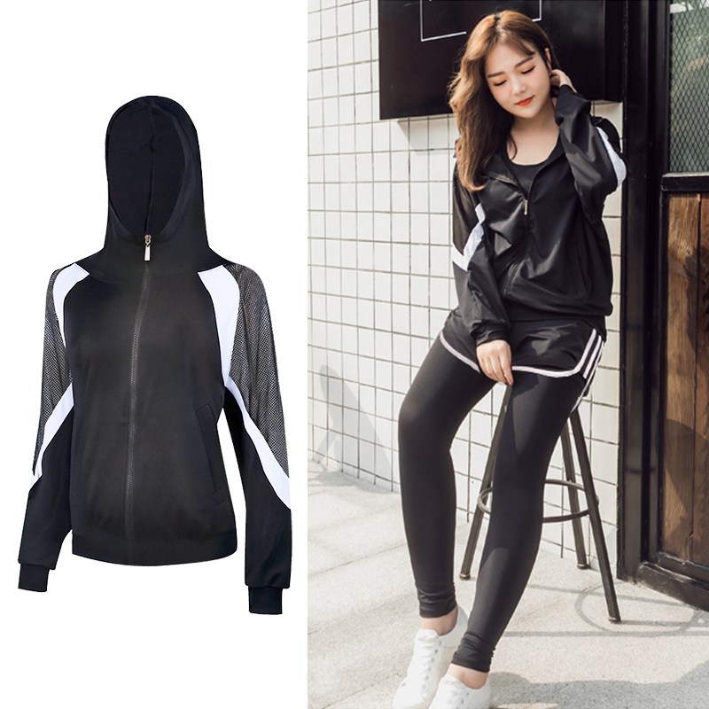 Sports running Jackets Hoodie yoga women Training Exercise breathable coat fitness workout