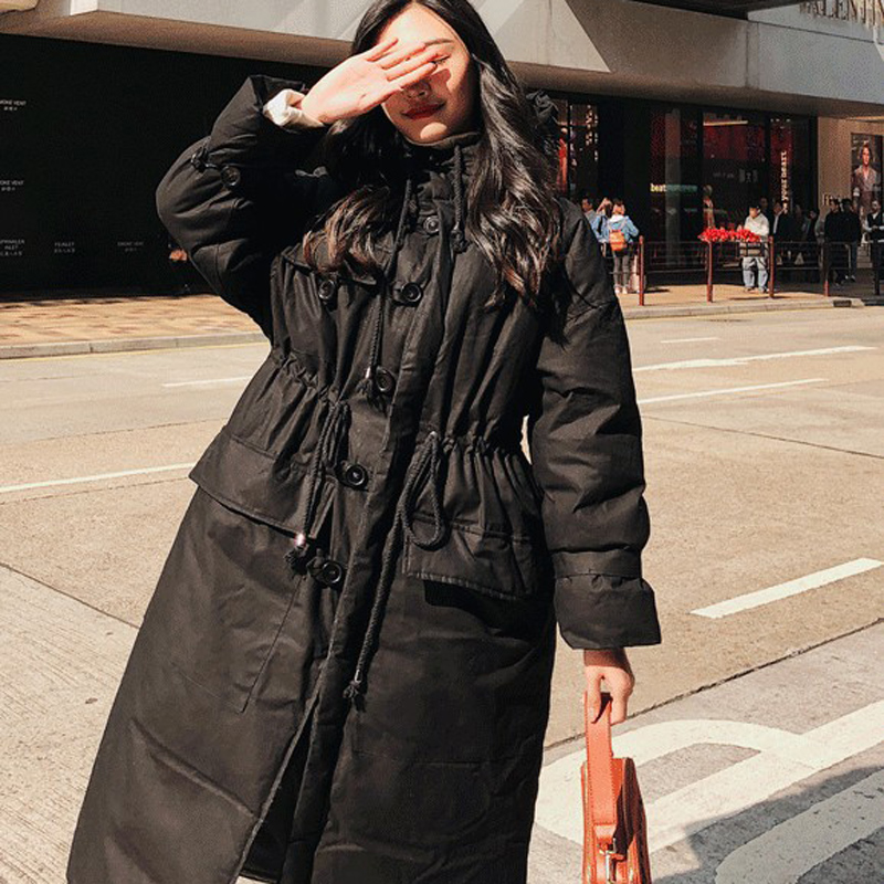 Image 3 - Winter Jacket Women Oversized Parka Coat Hooded Maxi Long Plus 
