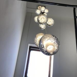 Image 4 - Youlaike יוקרה מודרני נברשת תאורה גדול מדרגות LED קריסטל אור גופי מלוטש פלדת תליית זוהר Cristal