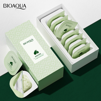 8PCS/set Avocado Extract Clearing Mud Cream Mask Moisturizing Oil-Control Acne Relief Smear Mask Boxed Korean Skin Care Products