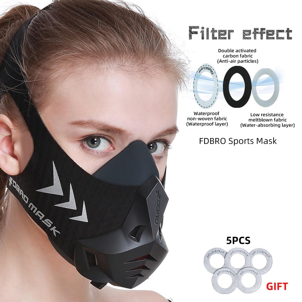 FDBRO New Black Fitness Training Sports Mask Pro Workout Running Resistance Cardio Endurance Sport High Altitude Athletics Mask