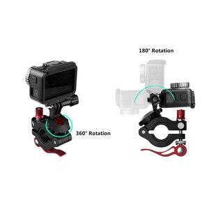 Image 5 - אוניברסלי אופניים מהדק מתכוונן כביש אופני תמיכה עבור GoPro עבור אוסמו פעולה עבור DJI אוסמו כיס ספורט מצלמה אבזרים