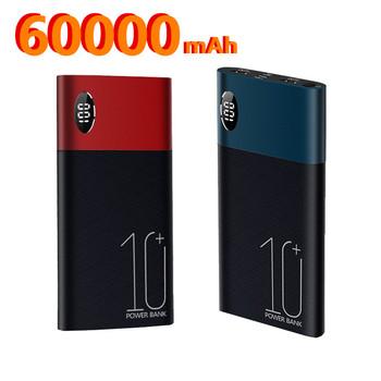 Power Bank 60000mAh Powerbank dla Xiaomi mi Power Bank zewnętrzna bateria mobilna przenośna ładowarka Poverbank Power Bank tanie i dobre opinie ALLPOWERS Bateria litowo-polimerowa Wsparcie szybkie ładowanie Cyfrowy wyświetlacz Podwójny USB 50001 mAh-100000 mAh